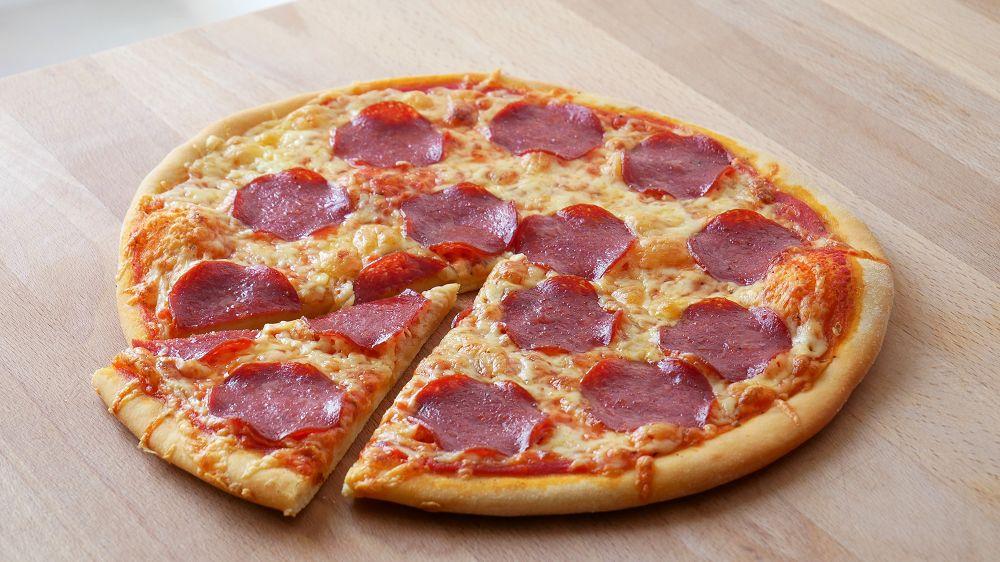 Schnelle Pizza Salami