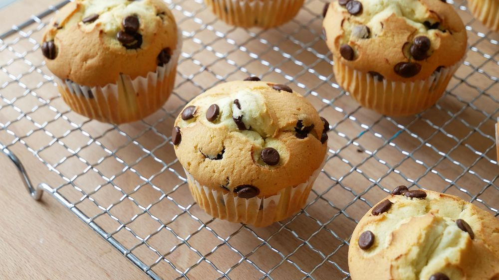 Chocolate Chip Muffins Backen