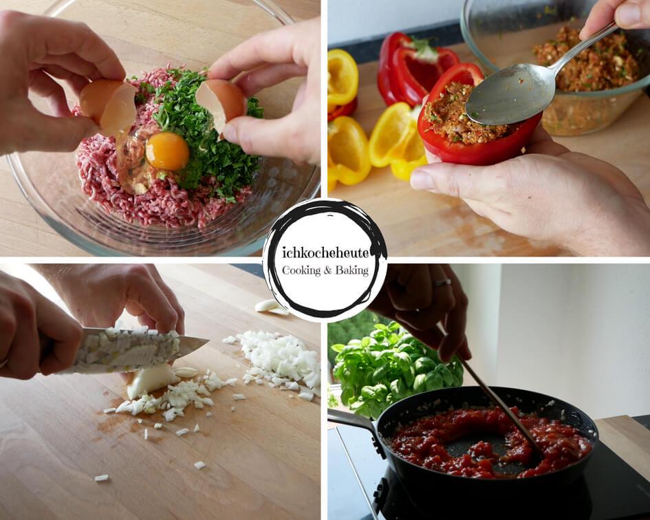 Paprika Füllen & Tomatensauce Zubereiten
