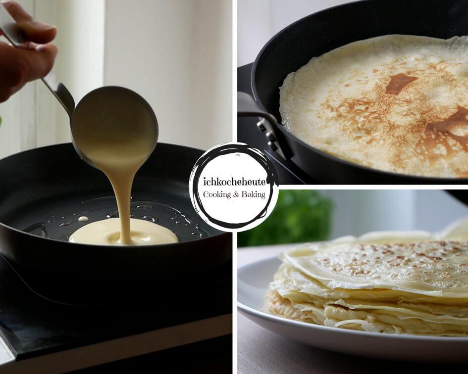 Pfannkuchen Ausbacken