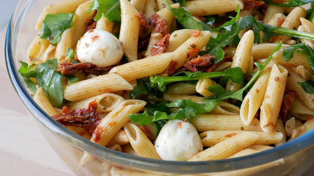Pasta Salad with Dried Tomatoes & Rocket