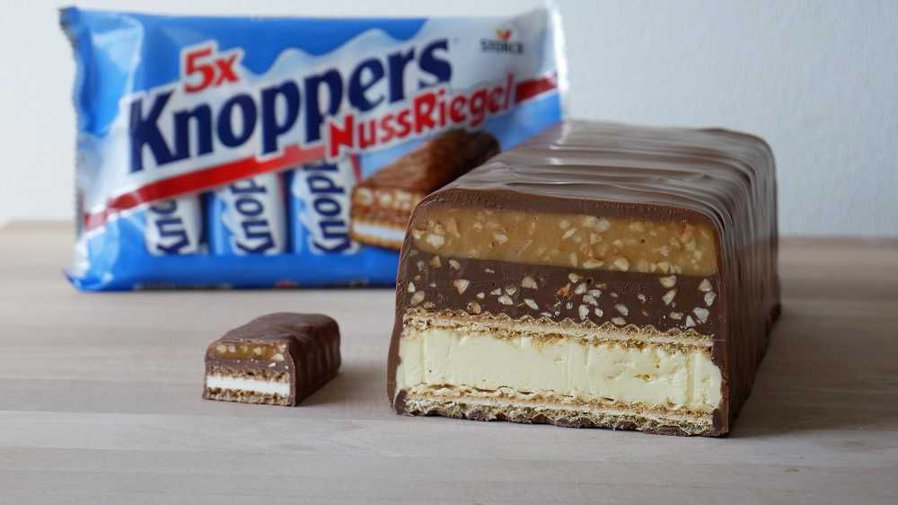 Homemade Giant Knoppers Nut Bar