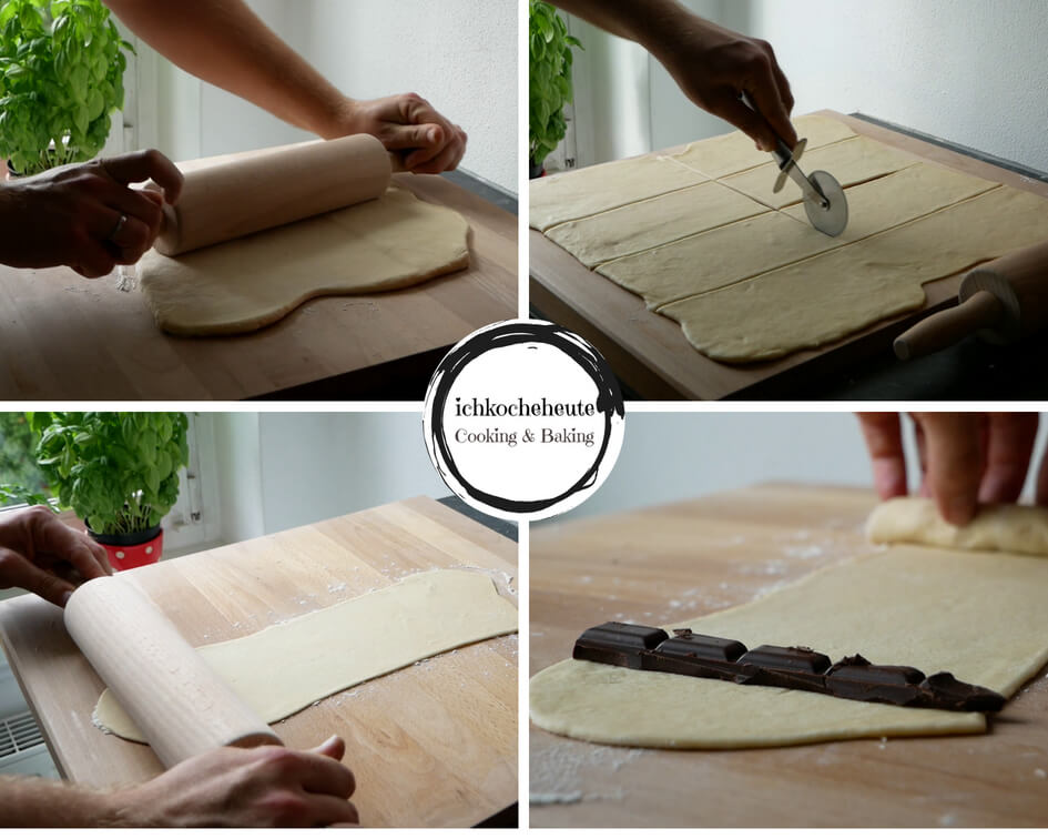 Shaping Chcolate Rolls