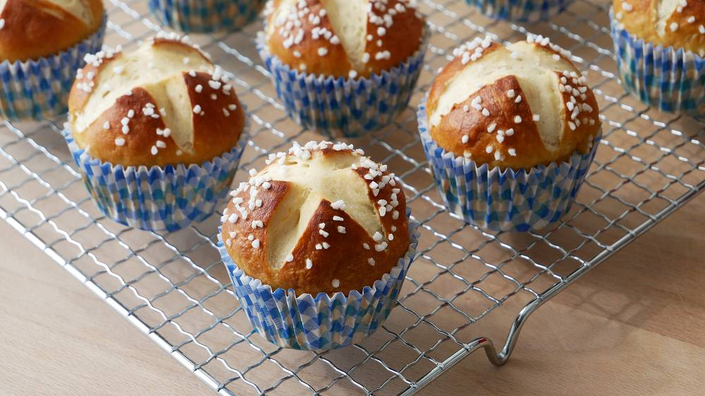 Laugenmuffins Backen