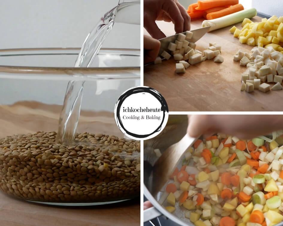 Preparing Lentil Soup