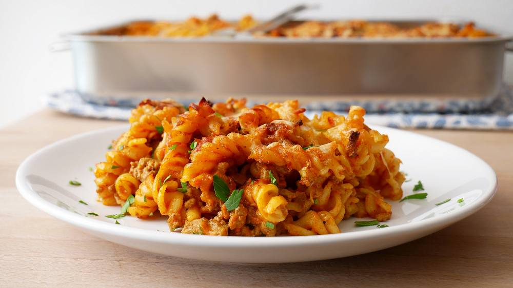 Simple Pasta Bake with Ground Meat