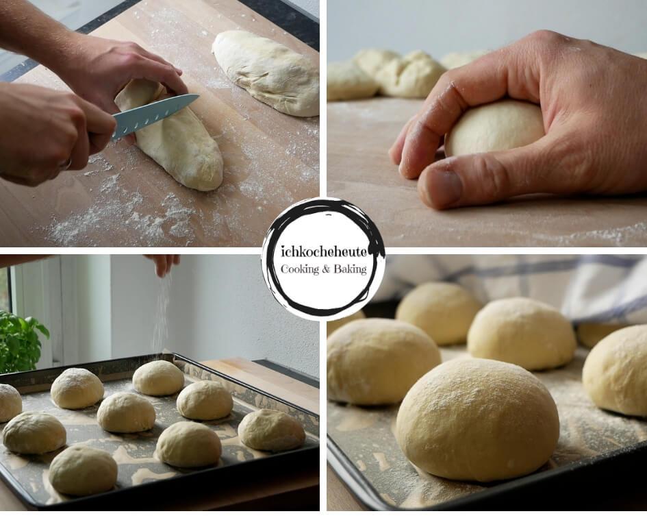 Kartoffelbrötchen Formen