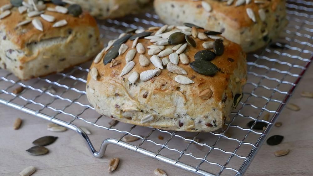 Baking Multi Grain Bread Rolls