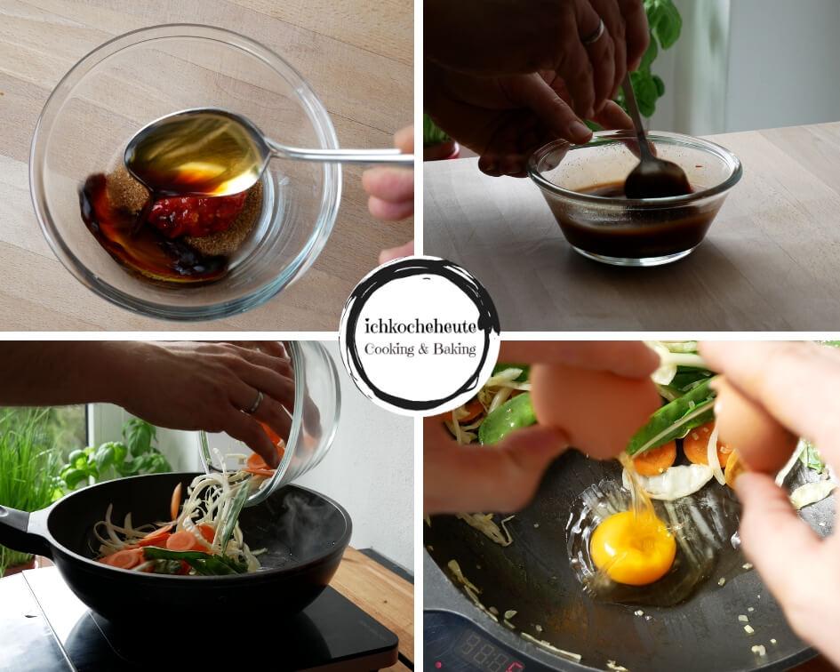 Sauce Zubereiten & Gebratene Nudeln Kochen