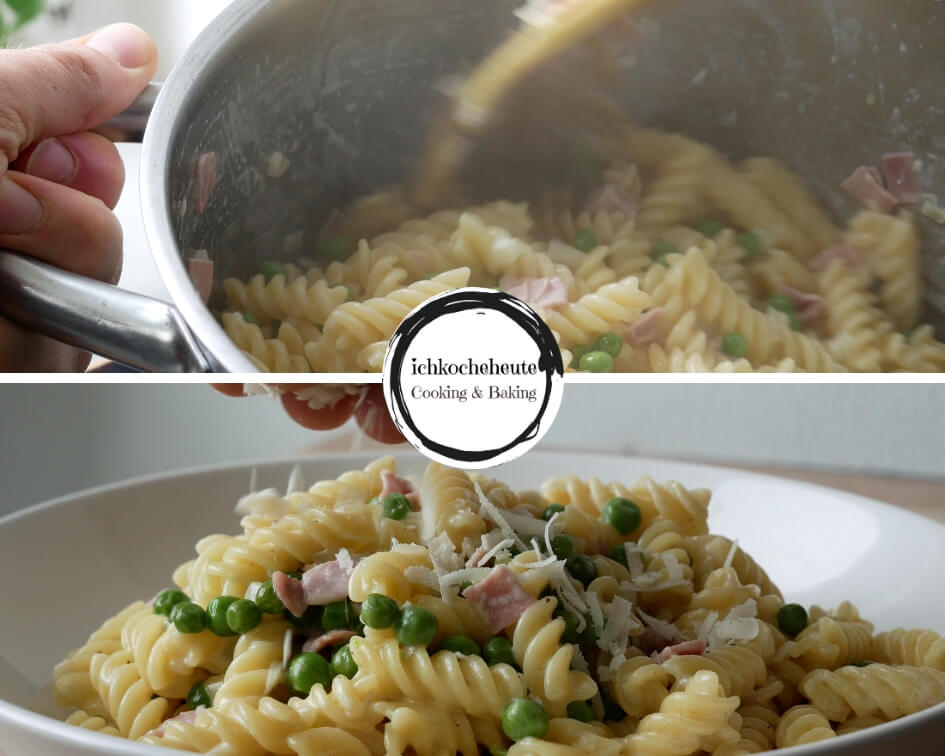 Pasta with Ham & Cream Sauce