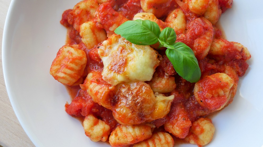 Oven Baked Gnocchi with Tomato Sauce