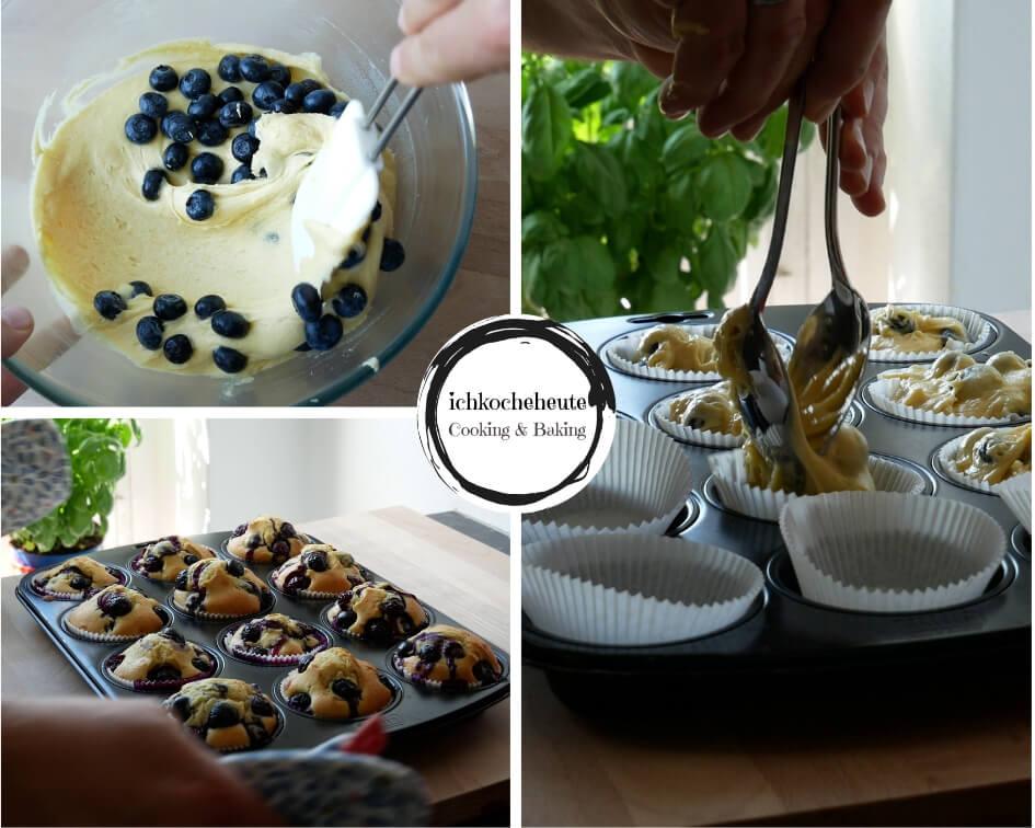Baking Blueberry Muffins
