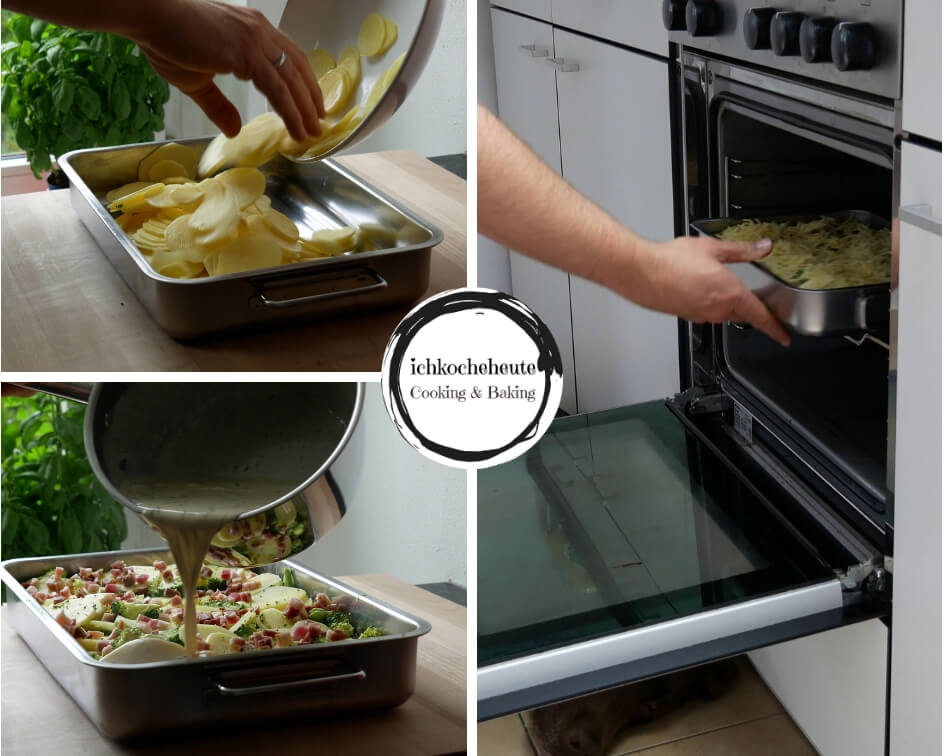 Cooking Potato Broccoli Bake
