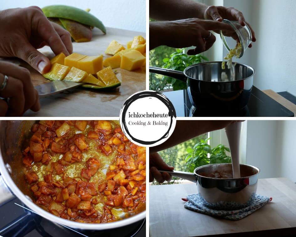 Preparing Mango Ketchup