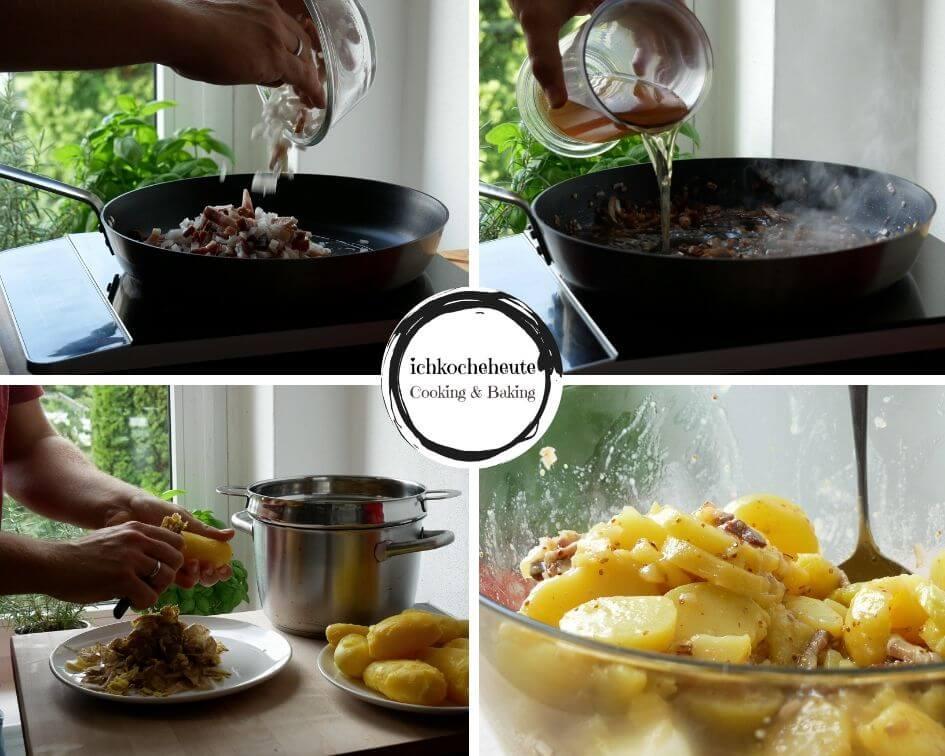 Preparing Potato Salad