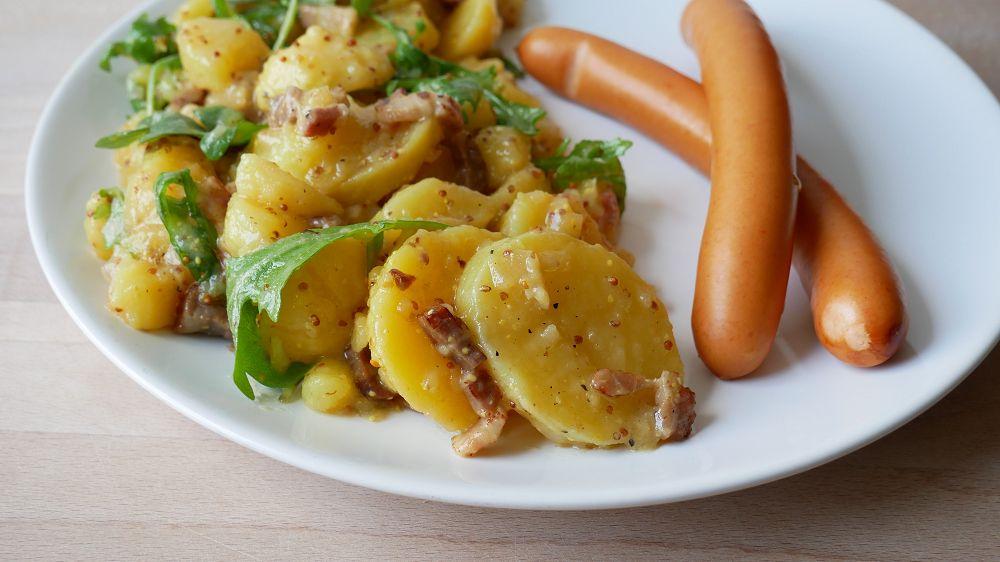 Potato Salad with Bacon & Rocket