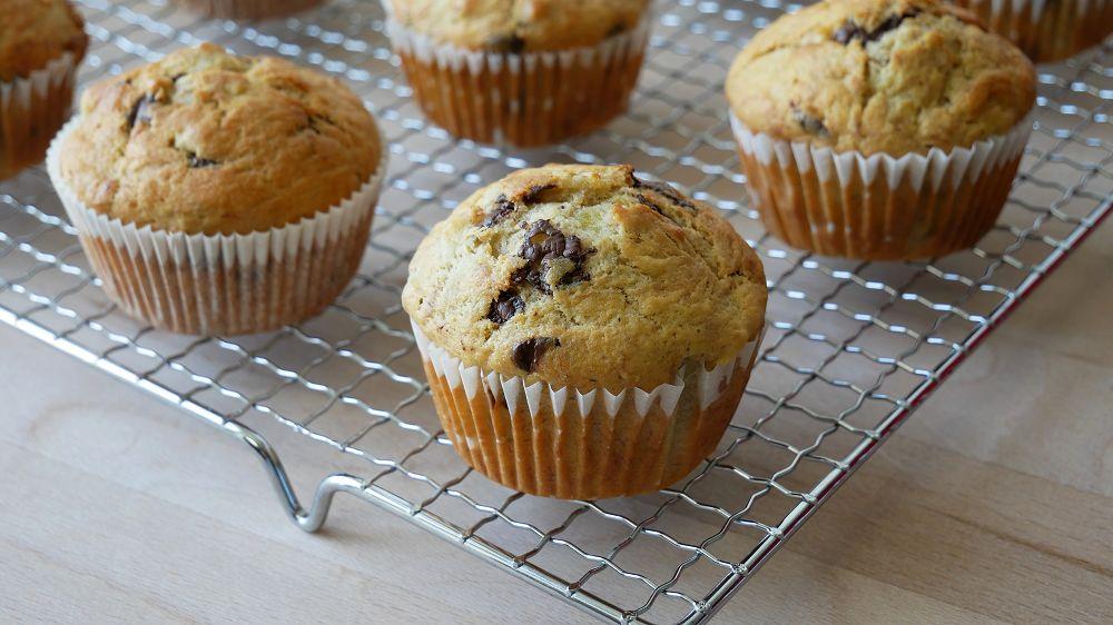 Schoko Bananen Muffins Backen