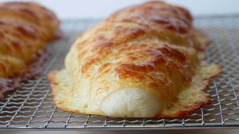 Baking Cheese Baguette Breads