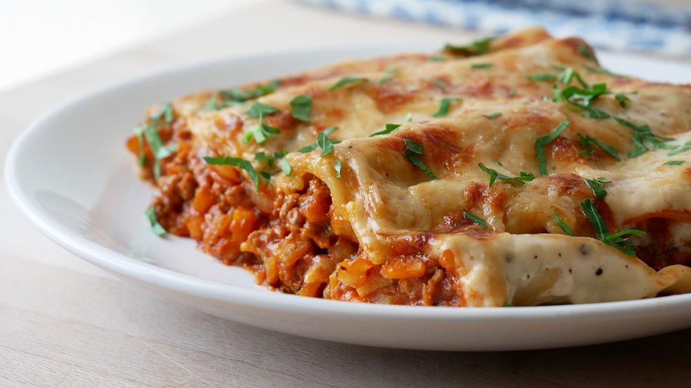 Cannelloni mit Hackfleisch