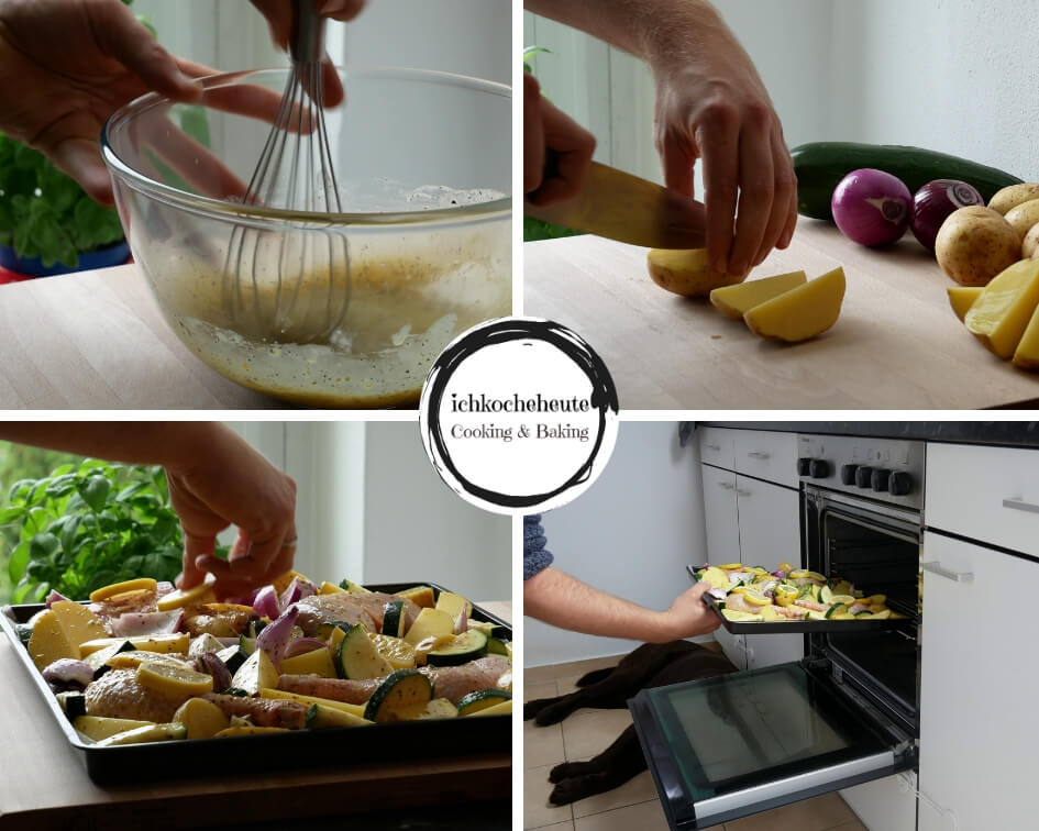 Preparing Lemon Chicken