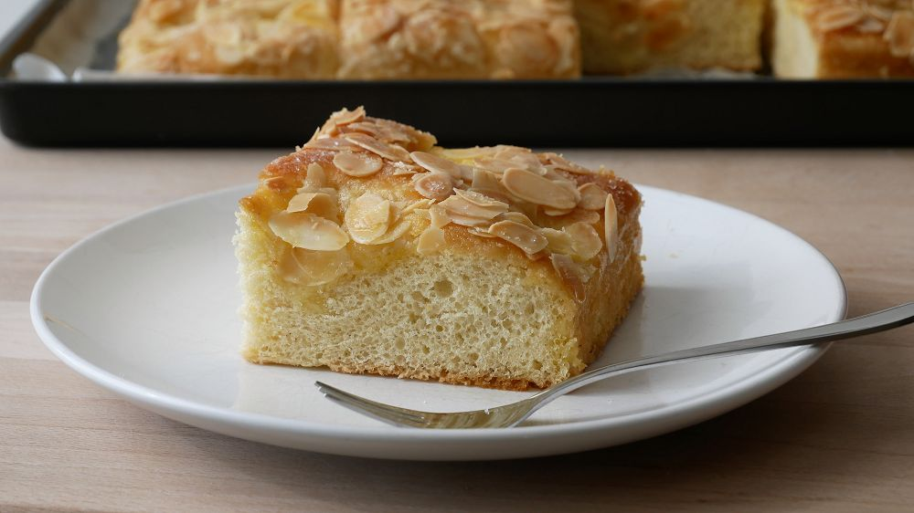Baking German Butter Cake with Almonds