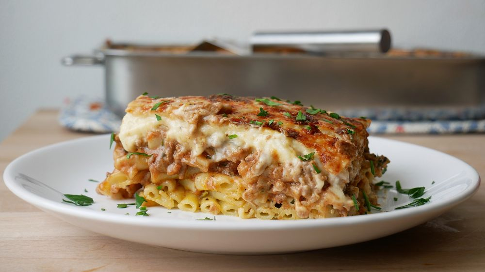Greek Pasta Bake with Ground Beef (Pastitsio)