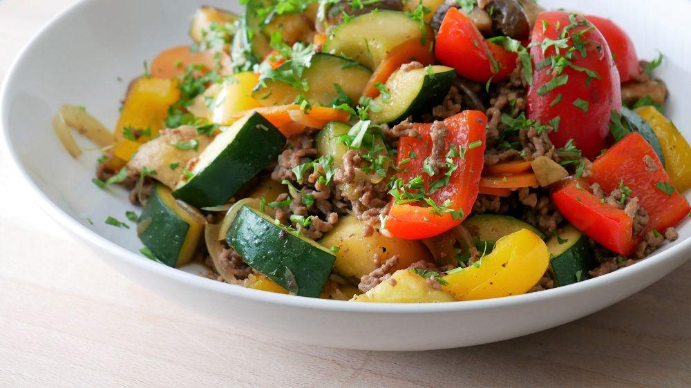 Simple Ground Beef Stir-Fry