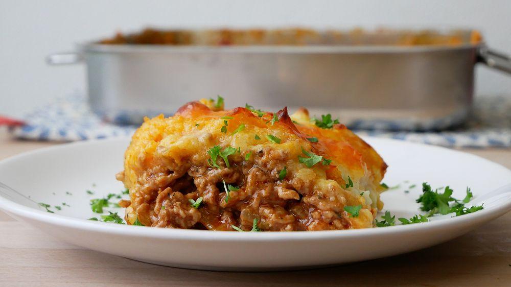 Shepherd's Pie mit Hackfleisch & Kartoffelpüree