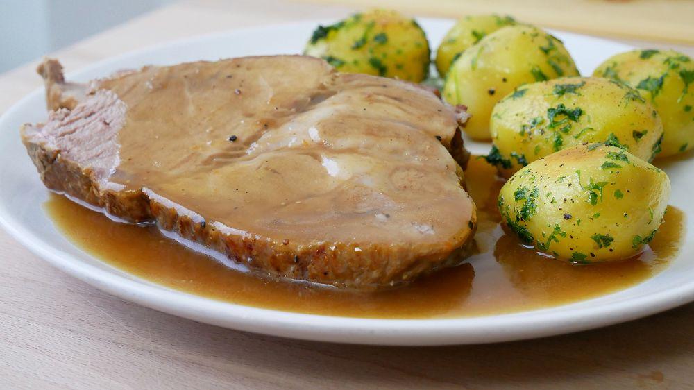 Pork Roast with Beer Gravy