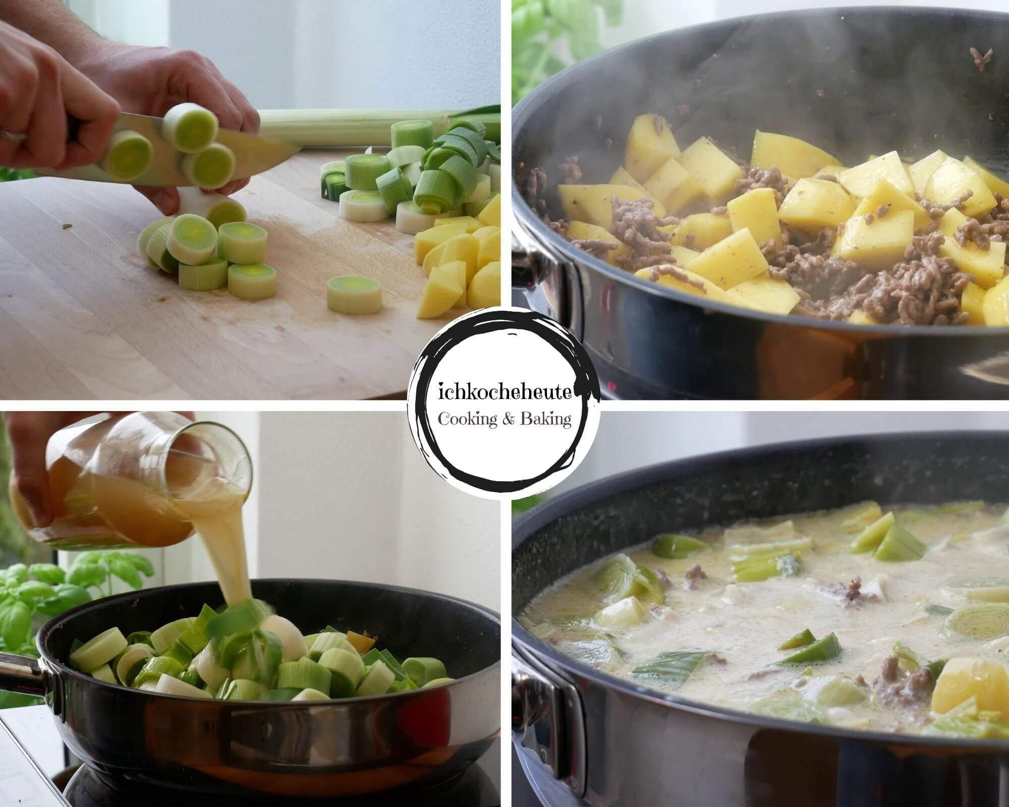 Cooking Cheese & Leek Soup