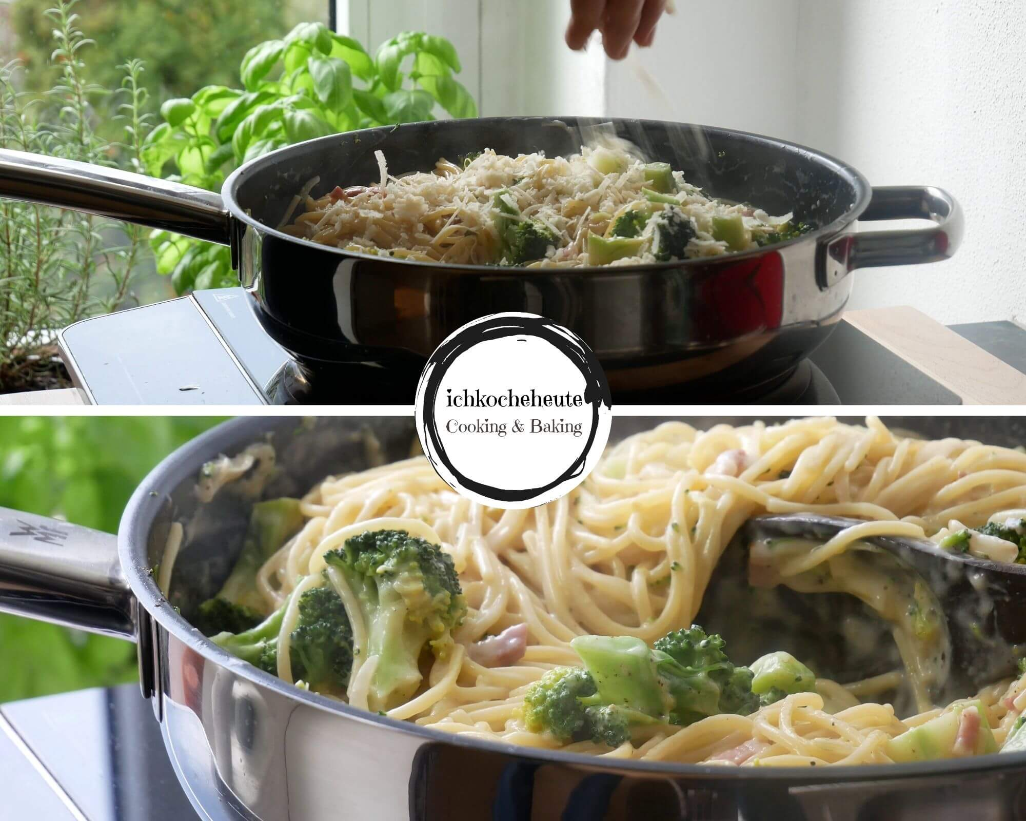 One Pot Pasta mit Speck & Brokkoli