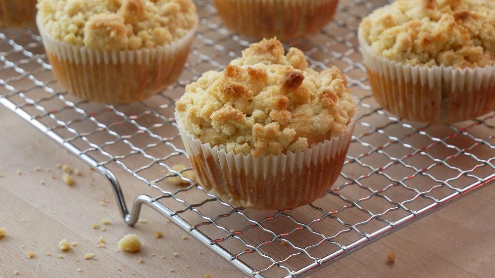 Apfelmus Muffins mit Streuseln
