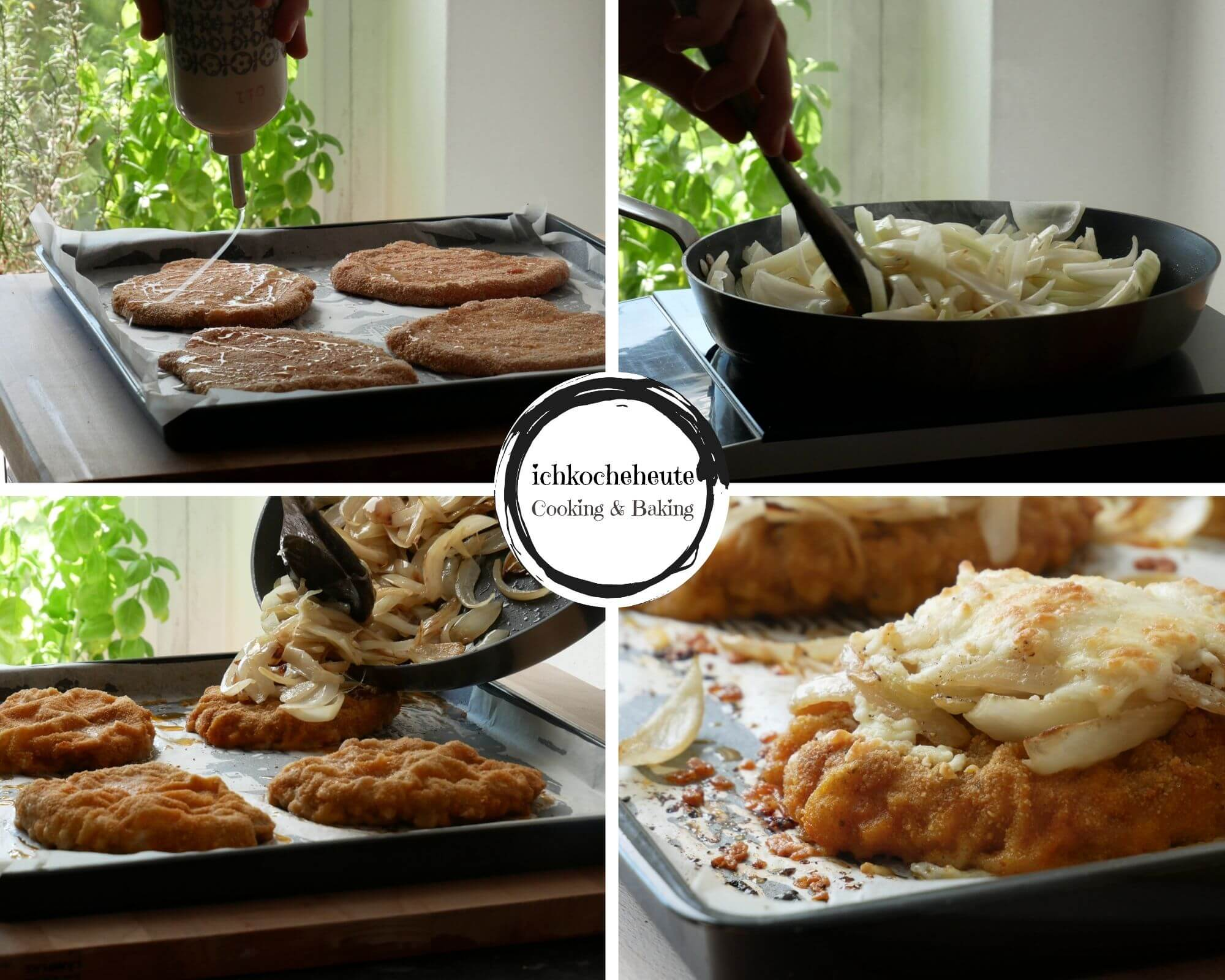 Baking Onion Schnitzels