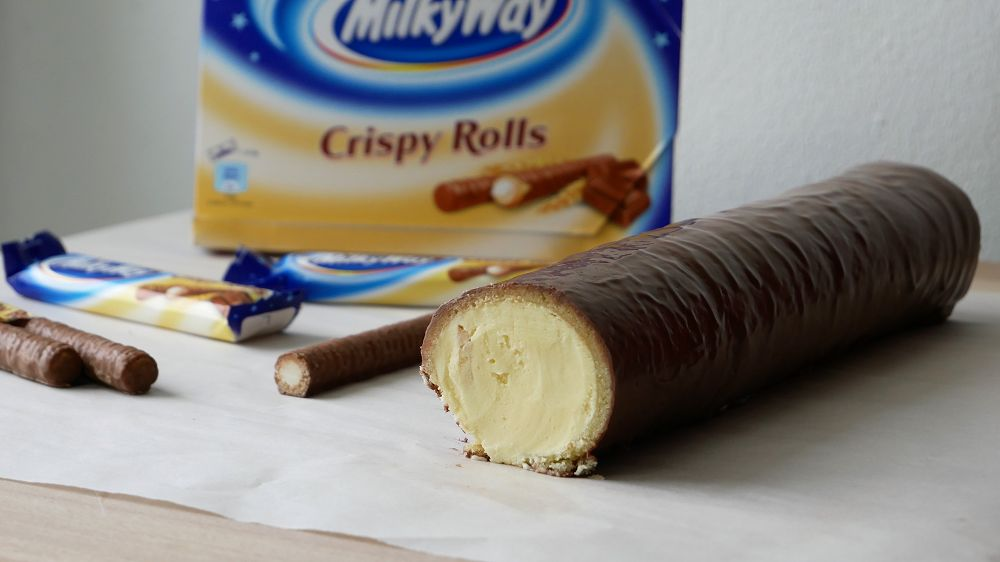 Homemade Giant Milky Way Crispy Roll