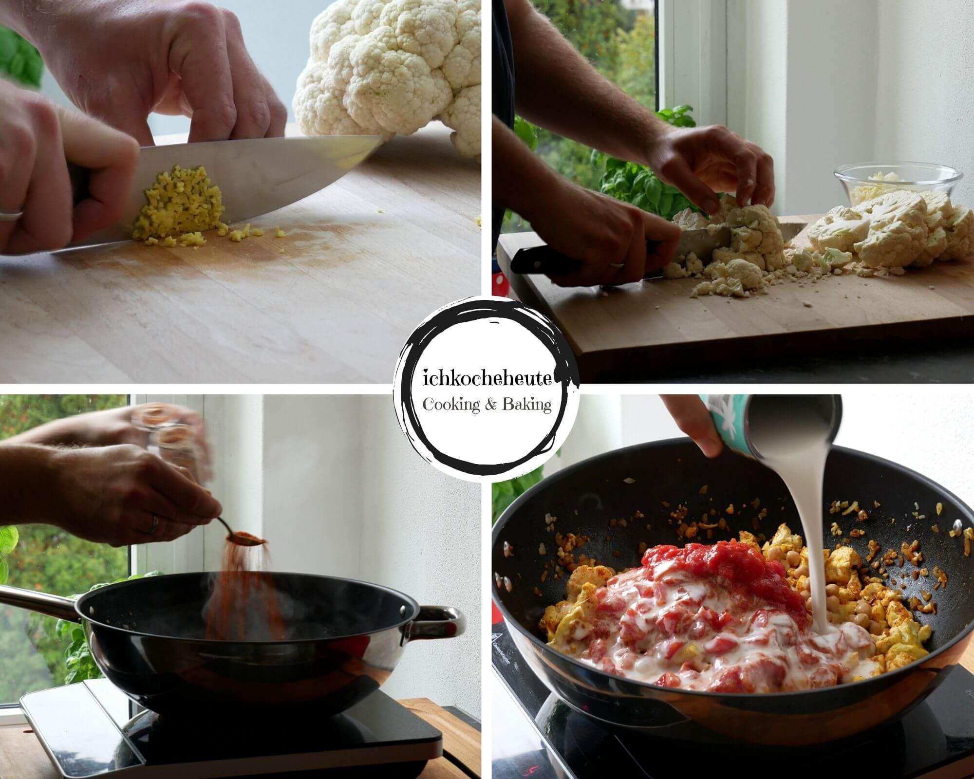 Vorbereitungen für das Curry