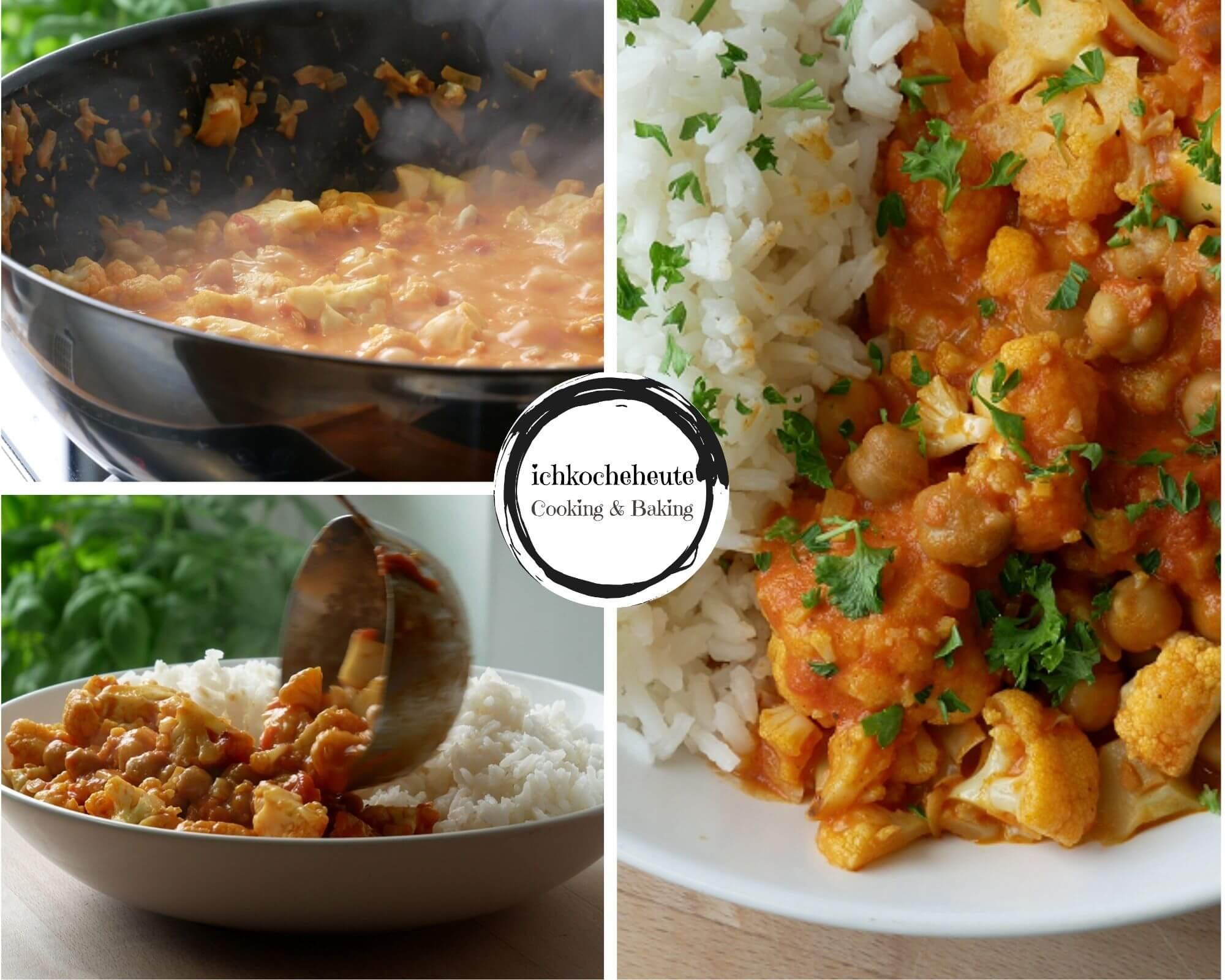 Blumenkohl Curry Servieren