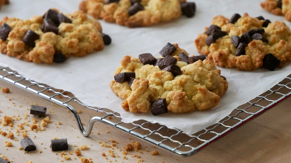 Chocolate Chip Crumble Cookies