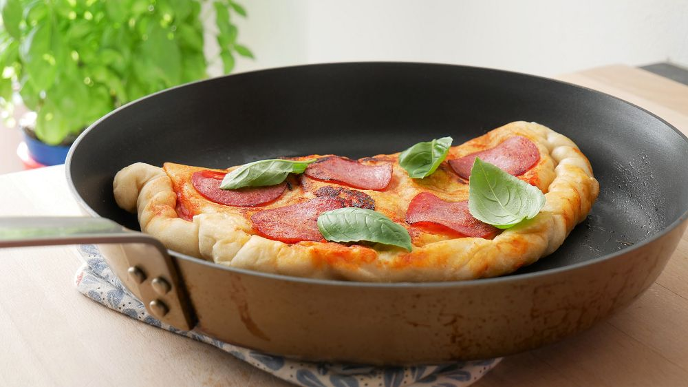 No Oven Calzone Pizza with Salami