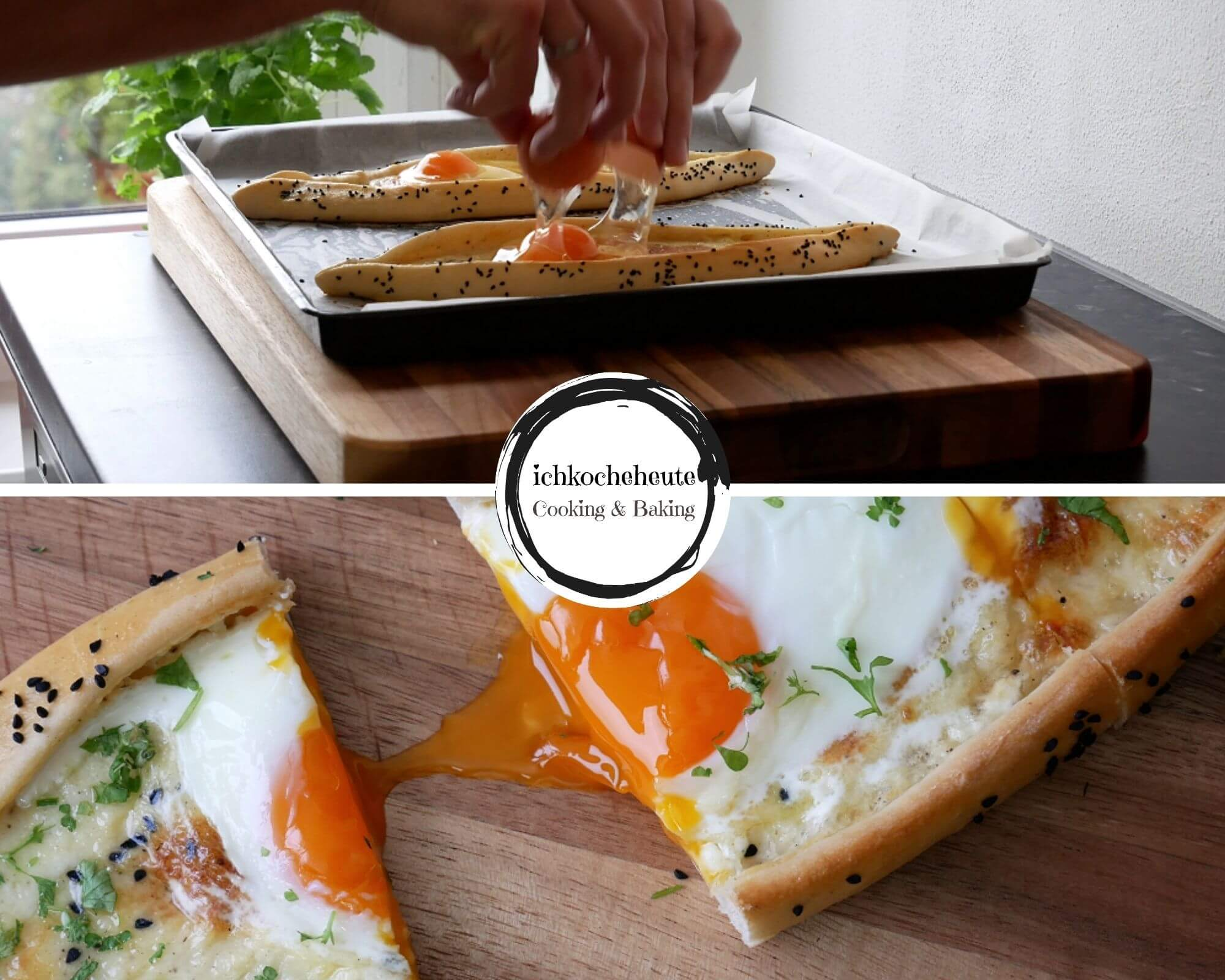 Pide Pizza with Cheese & Egg
