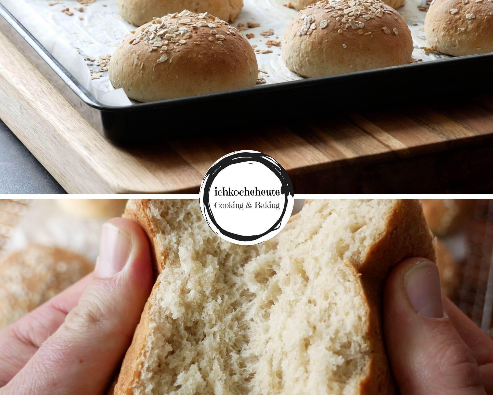 Baked Oatmeal Bread Rolls