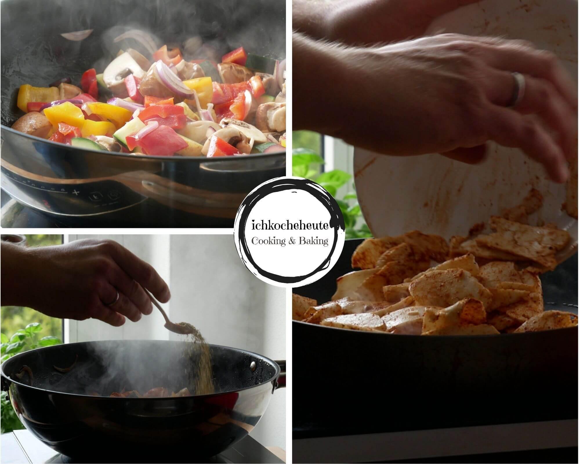 Frying Veggies & Halloumi