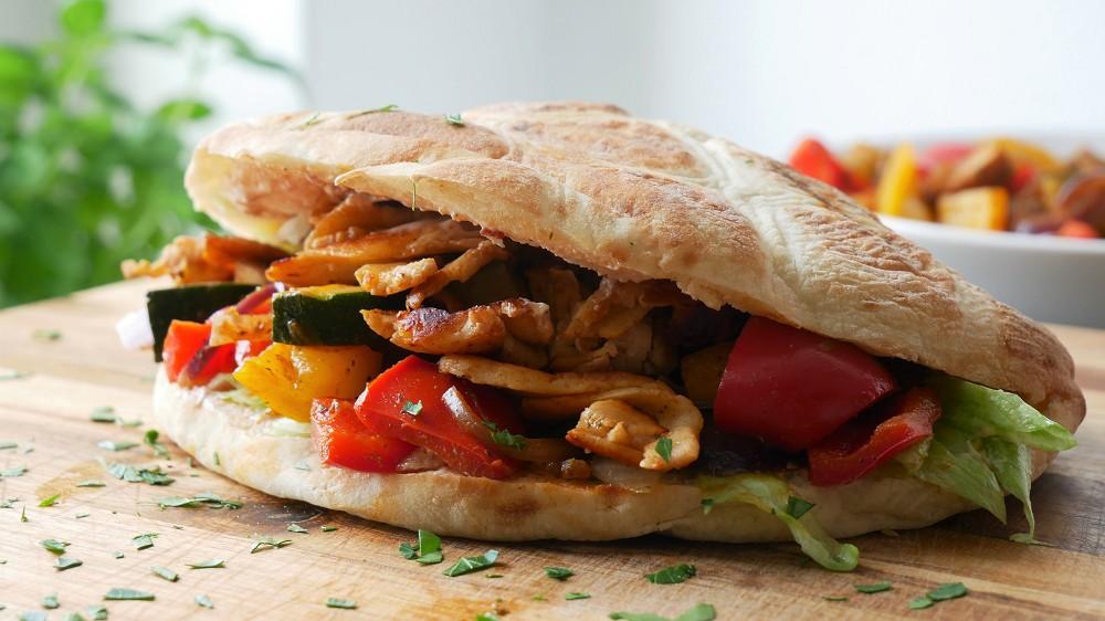 Veggie Halloumi Kebab Sandwich
