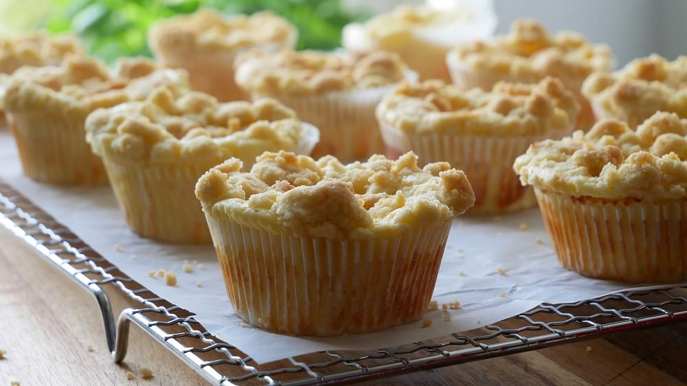 Käsekuchen Muffins mit Streuseln Backen