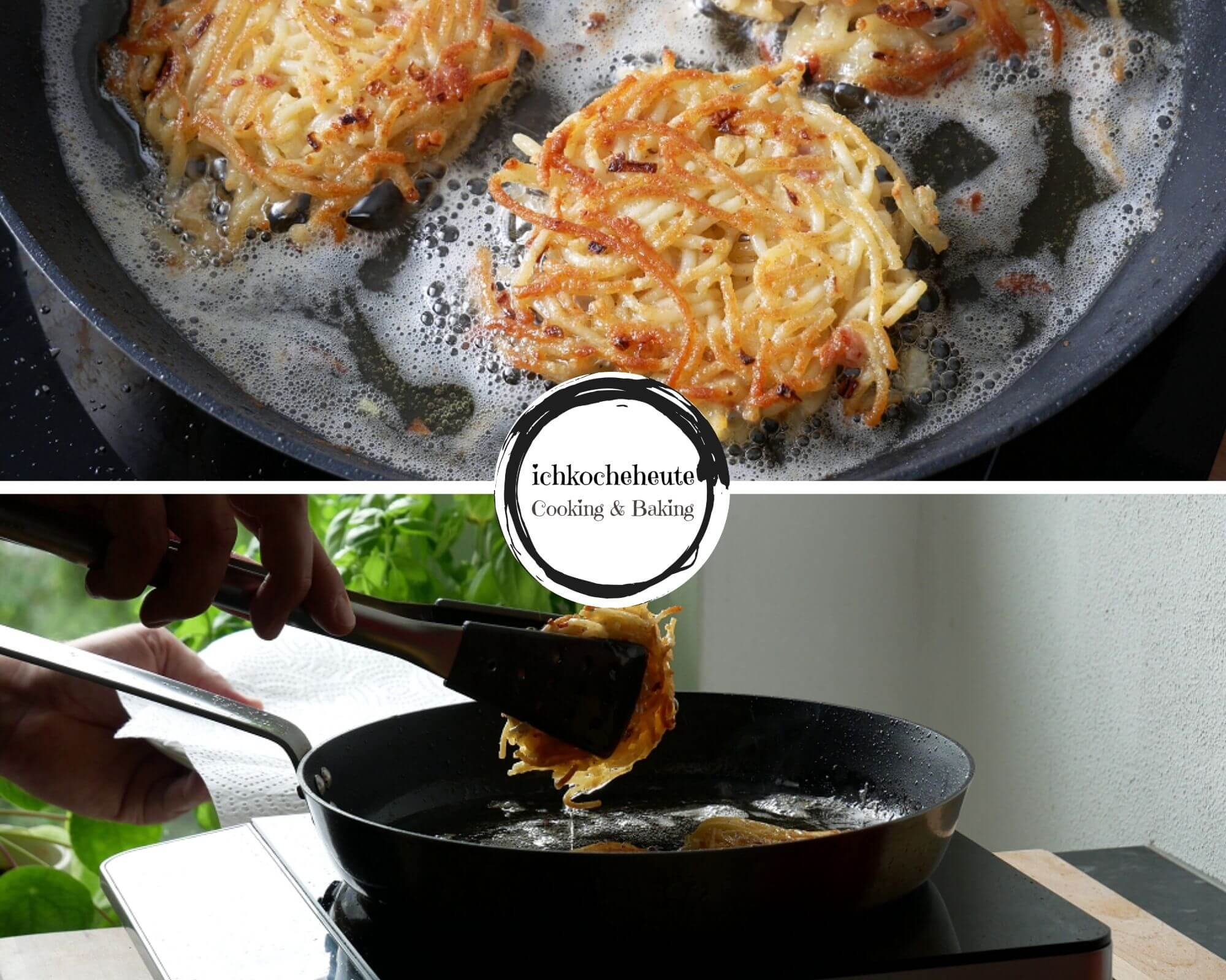 Frying Spagheti Fritters