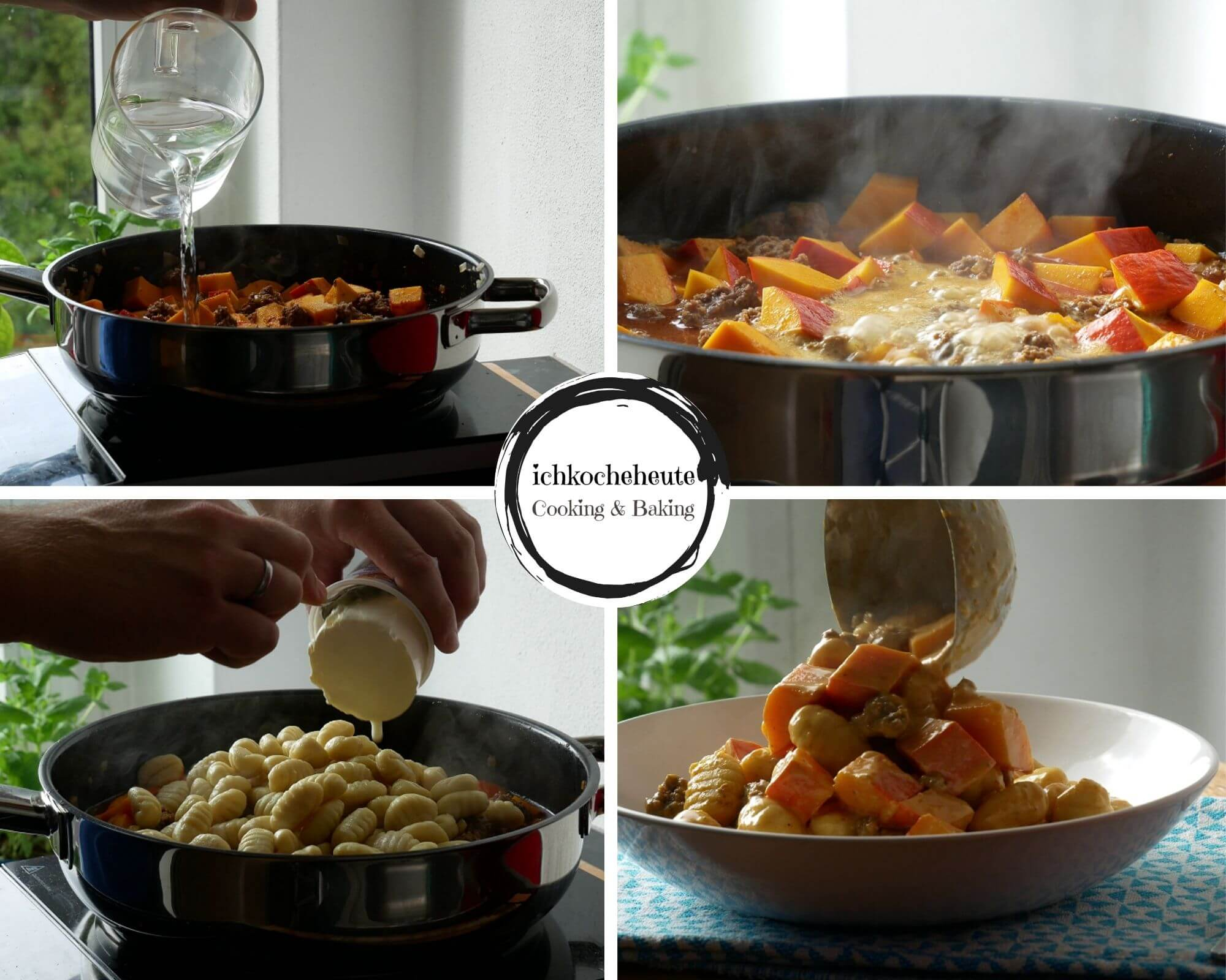 Cooking Pumpkin Gnocchi Stir Fry with Ground Beef