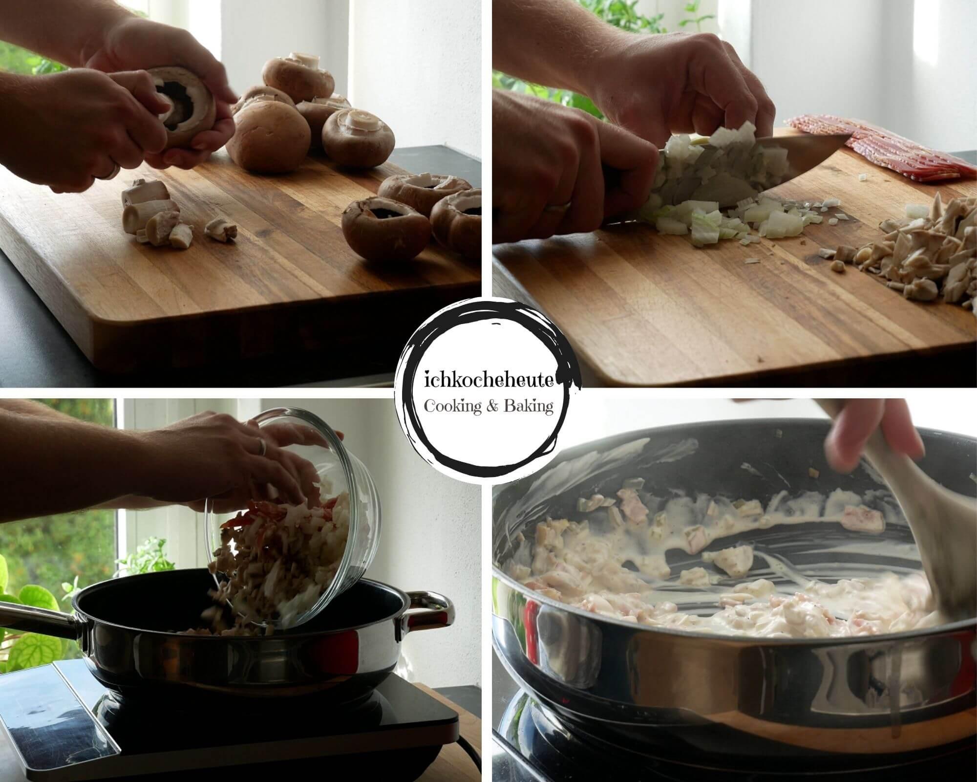 Preparations for Mushroom Stuffing