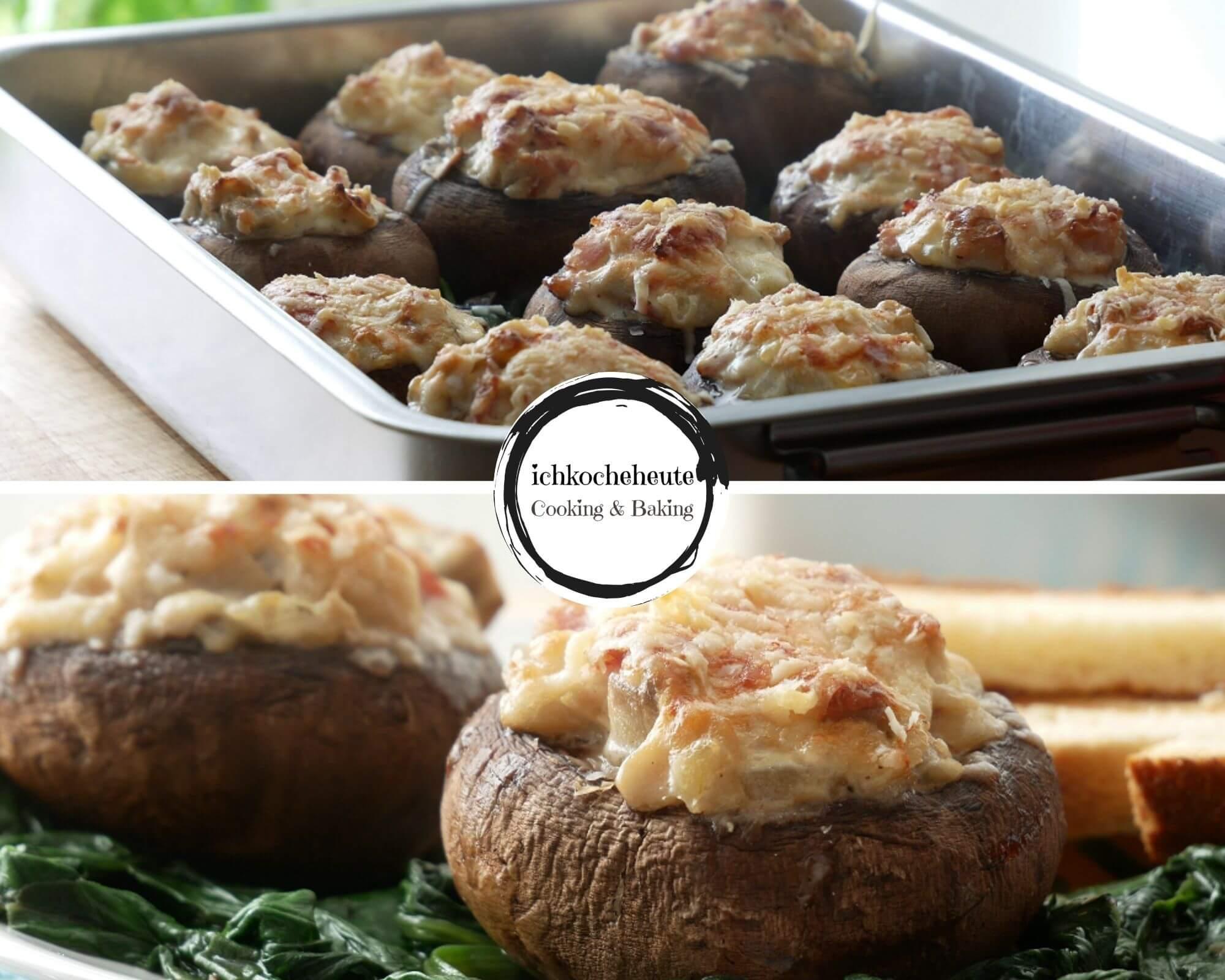 Serving Stuffed Mushrooms